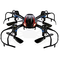 TEC.BEAN Drone quadrirotore Mini RC X902 BlackWidow con rotazione 3D da 2,4Ghz, Sensore giroscopico a 6 assi, Ideale per
