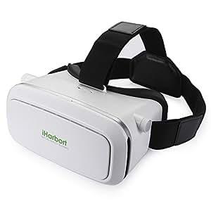 Iharbort cuffia di 3D VR realtà virtuale VR Occhiali per 4.0 a 6.0 pollici smartphone (iPhone 6 6 Plus, Samsung Galaxy S6 ecc.) - bianco