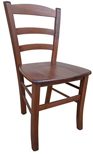 Sedia in legno massello seduta in massello ristorante casa PAESANA già montata legno noce scuro