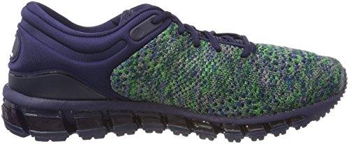 Asics Gel-Quantum 360 Knit 2, Chaussures de Running Homme Bleu (Peacoatgreenwhite 5884)