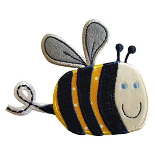 TrickyBoo 2 Aufbügler Biene 9X8cm Eichel 7X8cm Set Aufnäher Flicken Applikationen zum Ausbessern von Kinder Kleidung mit Design Zürich Schweiz für Deutschland und Österreich -