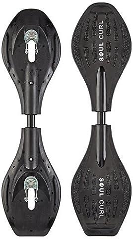 Soul Curl Uni Erwachsene Caster Wave Board Pro mit Tasche Casterboard, Black, 34 Inch
