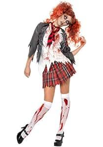 Smiffys - Deguisement halloween d'etudiante Zombie - L