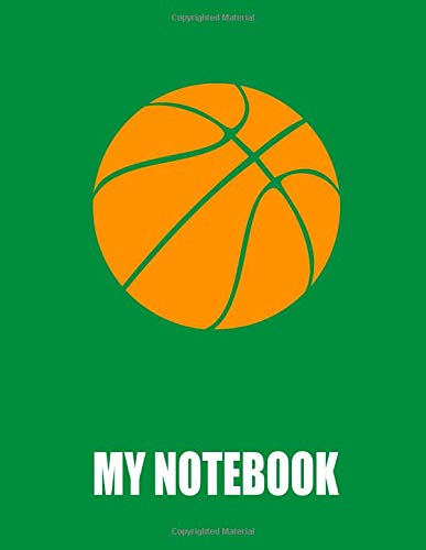 My Notebook. For Basketball Fans. Blank Lined Planner Journal Diary. por BBD Gift Designs