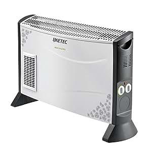 Imetec Eco Rapid TH1-100 Termoconvettore 2000 W con Tecnologia a Basso Consumo Energetico, 4 Temperature, Termostato Ambiente