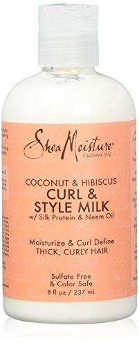 Shea Moisture Coconut und Hibiscus Curl & Style Milk, 1er Pack, (1x 237 ml)