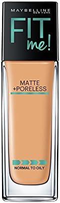 Maybelline New York Fit Me Matte+Poreless Liquid Foundation (With Pump), 310 Sun beige, 30ml