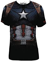 Marvel Captain America Civil War Cap Da Frap Mens Costume T-Shirt