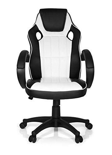 MyBuero Bürostuhl Gaming Zone Pro 100 (schwarz / weiß)