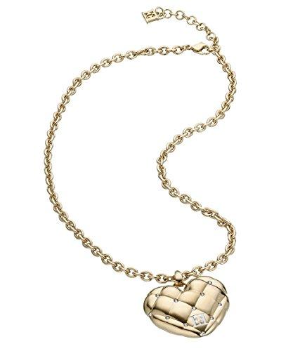 escada-gold-plated-acolchado-diseno-de-corazon-colgante-collar