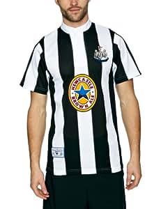 Score Draw Official Retro Newcastle United 1996 Men's Retro Football Shirt - Black and White, Small