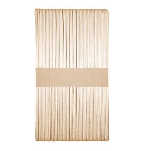 Meowoo Holzstäbchen,Wachs Spatel Sticks zum Auftragen von Wachs und Zuckerpaste Haarentfernung,50 stk(93/125/150mm) (150mm) -