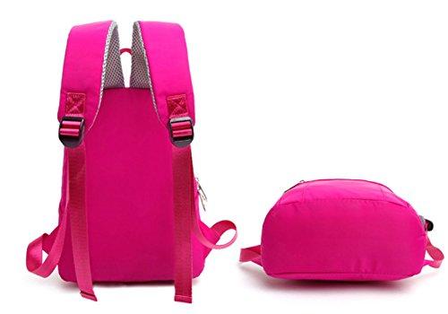 Keshi Nylon Niedlich Maedchen Rucksack Schulranzen Pink