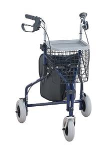 NRS Healthcare Three-Wheel Rollator Walking Aid