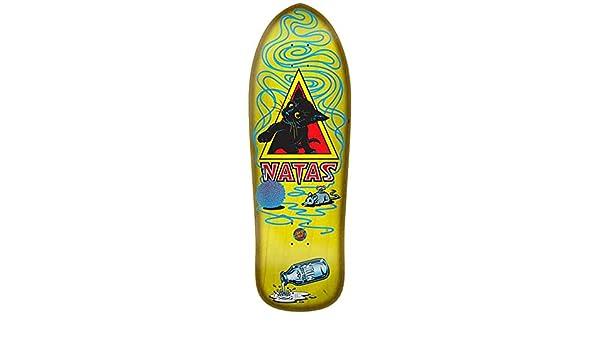 SANTA CRUZ Natas Kitten SMA Yellow Reissue Skateboard Deck