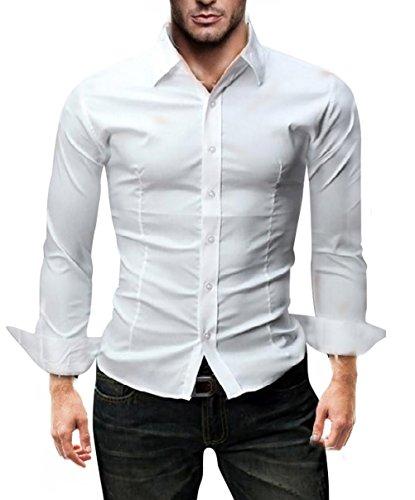 108f317812ec HomeShopAbbigliamentoUomoCamicieKayhan originale uomo camicia slim fit  facile stiro cotone maniche lungo S M L XL XXL 2XL -Modello UNI. - 33%