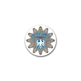Copytec Aufkleber/Sticker - Bundespolizei BPOL Polizei des Bundes Bund Bundesrepublik Potsdam Deutschland 7x7cm#A1850