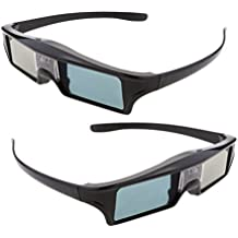 MagiDeal 2 piezas de 144Hz Recargable 3D DLP-LINK Gafas Activas para Optoma / BenQ TV