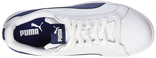 Puma Unisex-Erwachsene Smash Leather Sneaker Weiß (white-blue Depths)