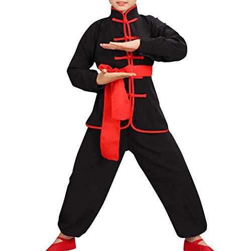Tenthree Kampfsport Performance Kleidung - Kinder Sets Schüler Jungen Chinesisch Traditionell Kostüme Tai Chi Wushu Uniformen Kung Fu Mädchen Übung ()