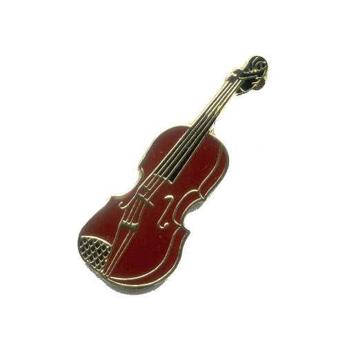 Geige Violine Chordophon Musik Metall Button Badge Pin Anstecker 0129