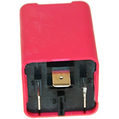 FL9 12 V 3 pin cuadrado Teckniks cierre electrónico luz LED intermitente fusible