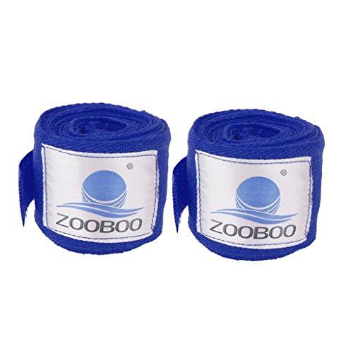 Preisvergleich Produktbild 2pcs 3m Boxing Boxbandagen Verband Stanzhandpackung Trainingshandschuhe Blau