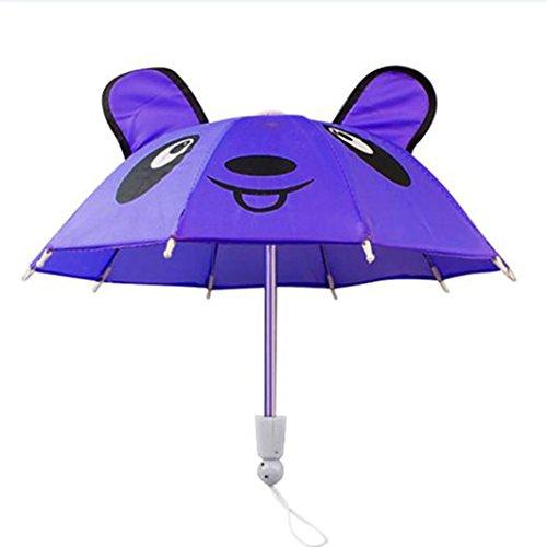 BZLine® Regenschirm Zubehör für 18-Zoll-American Girl / Baby Born Puppen Geschenk (Lila) (18-zoll-puppe-handy)