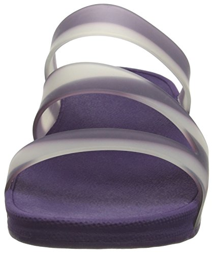 Fitflop Superjelly Twist With Stripe, Scarpe Spuntate Donna Purple (Pomp Purple)