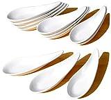 blanc chinois contemporain cuillères pour apéritif x 12