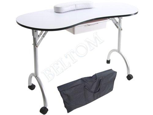 Tavolo Da Lavoro Per Estetista : Tavolo manicure professionale pieghevole con cassetto e cuscino