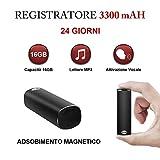 Micro Registratore Vocale Portatile 16GB HY, Registratore Audio con Attivazione...