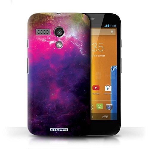Kobalt® Imprimé Etui / Coque pour Motorola MOTO G (2013) / Planète Orange conception / Série Cosmos Nébuleuse Pourpre