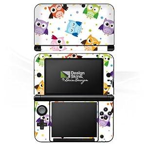 DeinDesign Skin kompatibel mit Nintendo 3 DS XL Aufkleber Sticker Folie Eulen Pattern Muster