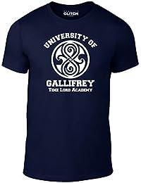 Bullshirt Gallifrey University de esquí para hombre juego de es diseño-de manga corta de