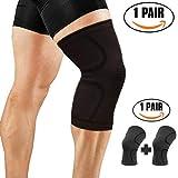 OrthoCare S.Fitness - Rodillera Soporte y compresión para vida diaria y deporte. Perfecta para correr, Crossfit, Halterofilia