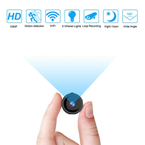 Mini Telecamera Spia, 4K Full HD Microcamera spia, microtelecamera wifi IP Wireless Rilevamento di Movimento telecamera di sorveglianza Videocamera di Sicurezz