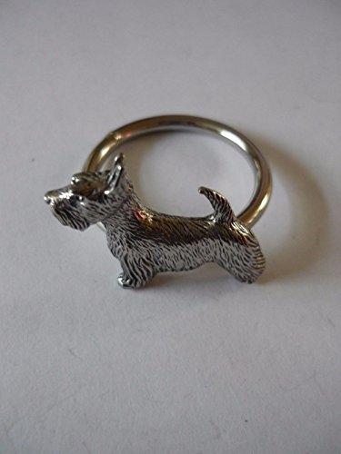 Schottische Scottie Hund W34Emblem aus feinem englischen Zinn auf ein Schal Ring geschrieben von uns Geschenke für alle 2016von Derbyshire UK... -