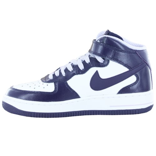 Nike Schuhe Air Force 1 Mid (GS) Unisex white-purple dynasty-violet frost (518218-104)