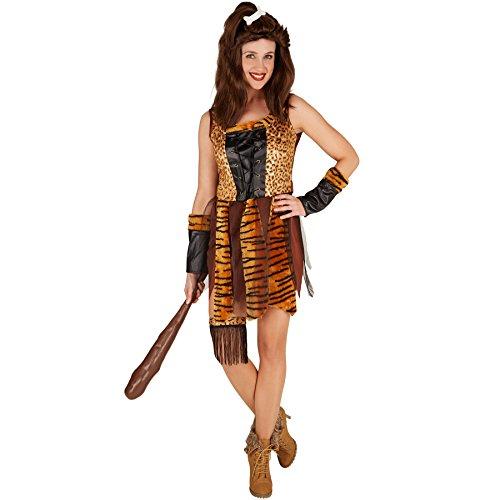TecTake dressforfun Fraunkostüm Steinzeit Neandertalerin | Höhlenmensch Verkleidung| inkl. Armstulpen und Einem Oberschenkelband (M | Nr. - Sexy Kostüm Sturm