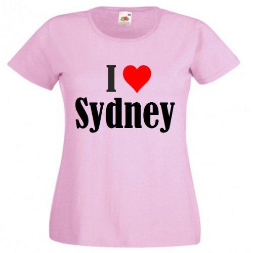 damen-t-shirt-i-love-sydneygrossemfarbepinkdruckschwarz