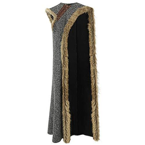 coskey Arya Stark Kostüm Kleid mit Umhang für Frauen Game of Thrones S8 Halloween Custom Made - - Medium
