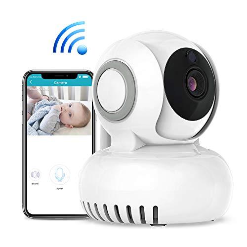 WLAN Kamera IP ÜberwachungsKamera 720P, mit 2 Wege Audio,Bewegungserkennung,Nachtsicht und Intelligenter Rotation, Baby Monitor 270°/120°Schwenkbar, von Mobile App Kontrolle einfache Nutzung