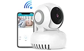 Baby Monitor 720P HD Telecamera di Sorveglianza Wireless Camera, Audio Bidirezionale, Notturna a Infrarossi, Videocamera, Compatibile con iOS Android e PC