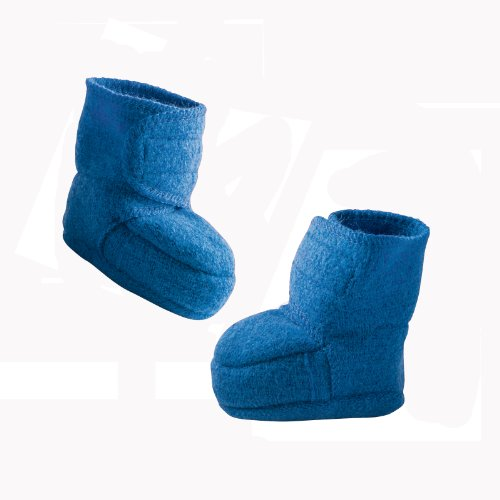 Disana 34410XX - Walk-Babyschuhe Wolle grau, Size / Größe:S blau