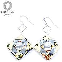 Manami Orecchini gioielli di carta washi e argento 925 - CRYSTALLIZED™ - SWAROVSKI Elements - Fatti a mano