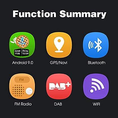 PUMPKIN-Android-90-Autoradio-Radio-fr-VW-Passat-Golf-Polo-mit-Navi-Untersttzt-Bluetooth-DAB-CD-DVD-Android-Auto-WiFi-USB-MicroSD-2-Din-7-Zoll-Bildschirm