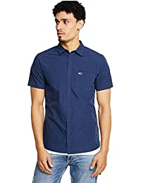 73a21807c31b5 Tommy Jeans Camisa Hombre TJM S S Solid Poplin Marino