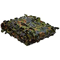 "NuoYa005 Woodland Camouflage Camo Net netting Camping Military Hunting 39*78"" 1mx2m 2"