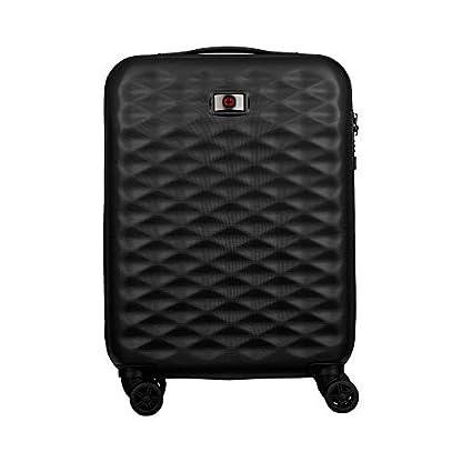 Wenger Lumen 20″ Hardside Luggage Global Carry-On – Negro Maleta, 54 cm, 32 Liters